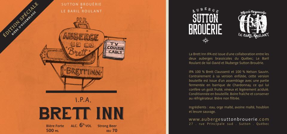 Brett Inn - Bière de microbrasserie | Bière IPA | Auberge Sutton Brouërie