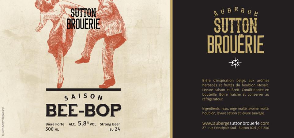 Bee-Bop - Bière de microbrasserie | Bière Saison | Auberge Sutton Brouërie