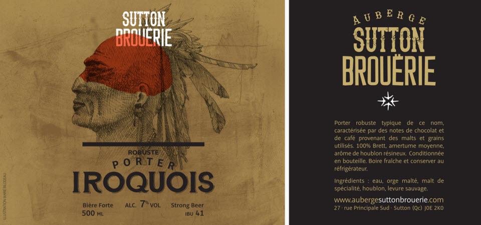 Iroquois - Bière de microbrasserie | Bière Porter | Auberge Sutton Brouërie
