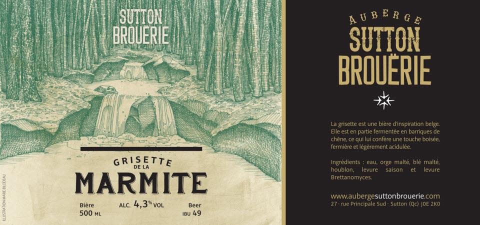 Grisette de la marmite - Bière de microbrasserie   Bière Saison   Auberge Sutton Brouërie