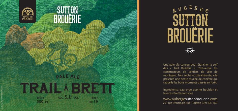 Trail à Brett - Bière de microbrasserie   Bière Pale Ale   Auberge Sutton Brouërie