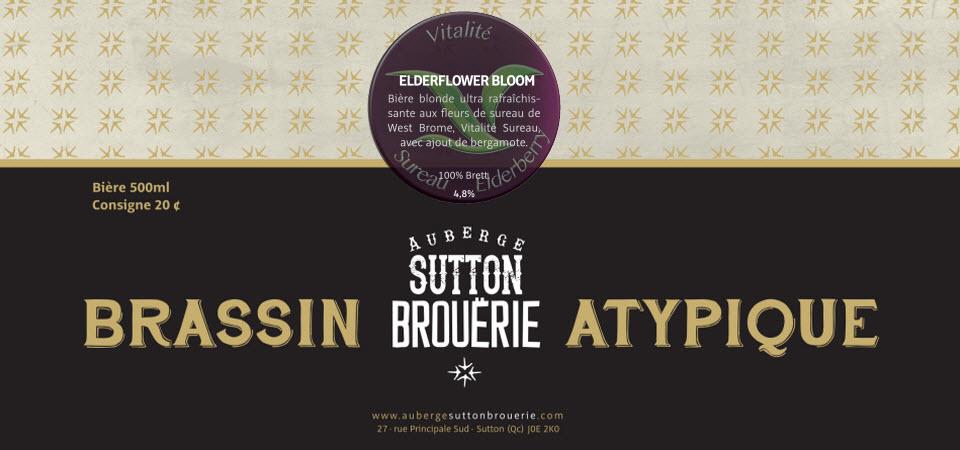 Elderflower Bloom - Bière de microbrasserie | Bière Brett Collaborative| Auberge Sutton Brouërie