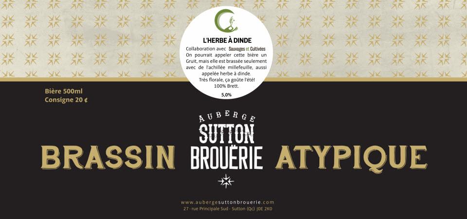 Herbe à dinde - Bière de microbrasserie   Bière Brett Collaborative   Auberge Sutton Brouërie