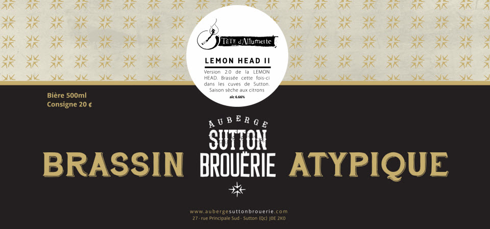 Lemon Head ll - Bière de microbrasserie   Bière Saison   Auberge Sutton Brouërie