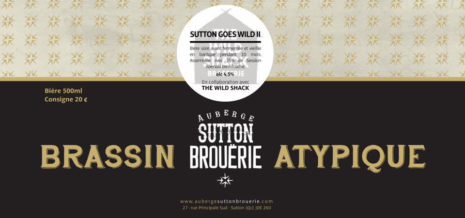 Sutton goes wild ll - Bière de microbrasserie   Bière Brett Sûre   Auberge Sutton Brouërie