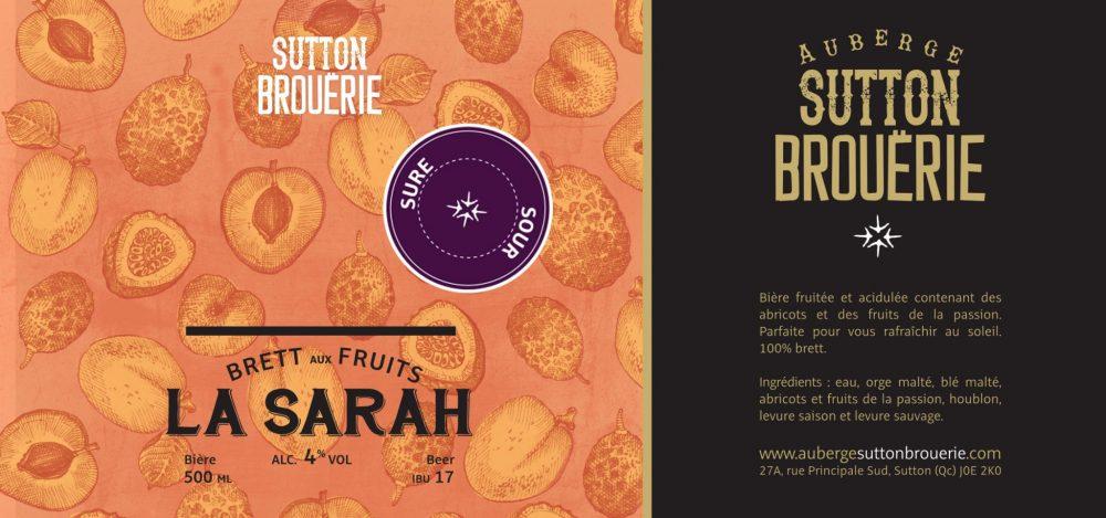 La Sarah Sure - Bière de microbrasserie | Bière Brett aux fruits | Auberge Sutton Brouërie