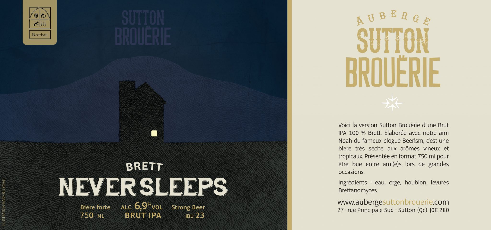 Never Sleeps - Bière de microbrasserie | Bière IPA | Auberge Sutton Brouërie