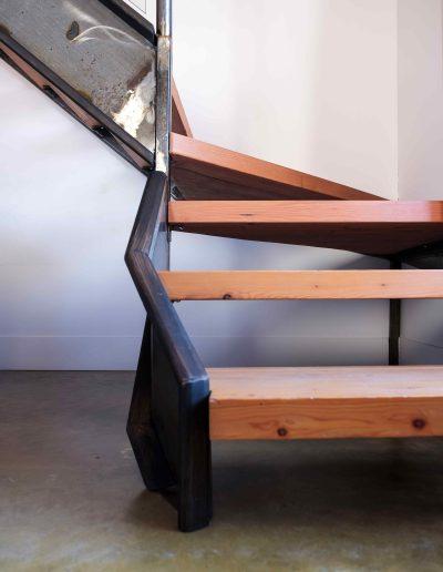 Les chambres de l'Auberge - Escalier mezzanine | Hébergement à Sutton, Estrie | Auberge Sutton Brouërie