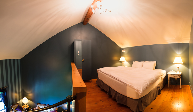 Chambre #3 - Mezzanine | Hébergement à Sutton, Estrie | Auberge Sutton Brouërie