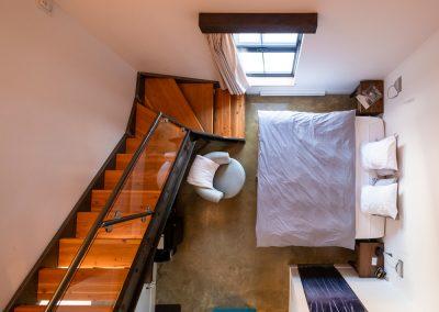 Chambres #5-6-7-8 - Vue de haut | Hébergement à Sutton, Estrie | Auberge Sutton Brouërie