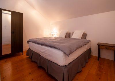 Chambres #5-6-7-8 - Mezzanine - Vue lit | Hébergement à Sutton, Estrie | Auberge Sutton Brouërie