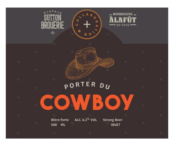 Porter du Cowboy - Bière de microbrasserie | Bière Porter | Auberge Sutton Brouërie