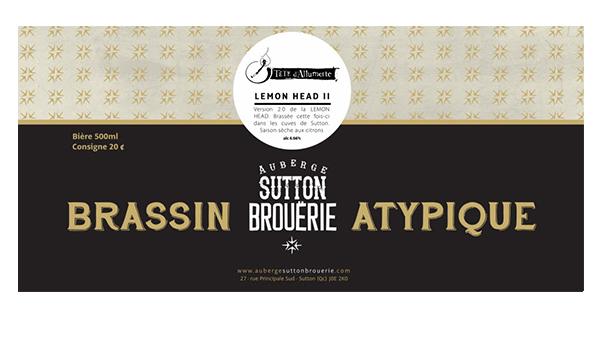 Lemon Head ll - Bière de microbrasserie | Bière Saison | Auberge Sutton Brouërie
