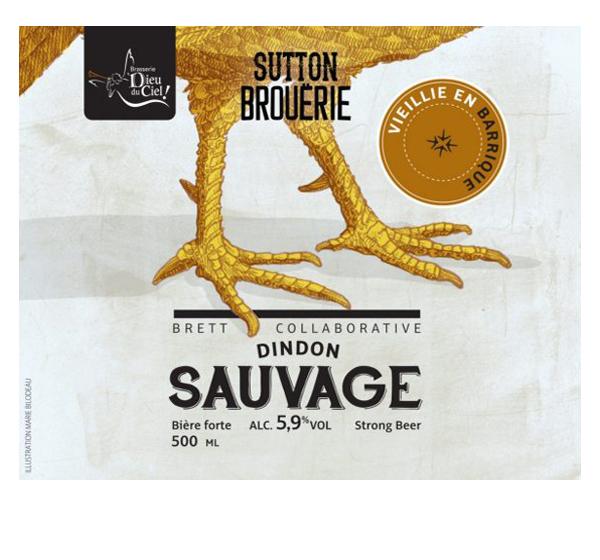 Dindon sauvage vieillie en barrique - Bière de microbrasserie | Bière Brett Collaborative | Auberge Sutton Brouërie